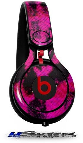 Pink Distressed Leopard Decal Style Skin (Fits Genuine Beats Mixr Headphones - Headphones Not Included)