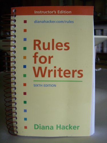 Rules for Writers by Diana Hacker 2007 Quantity pack