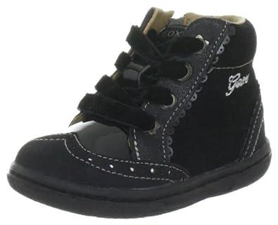 Geox Baby Flick Girl B2434B02266C9999, Mädchen Lauflernschuhe, Schwarz (black C9999), EU 21