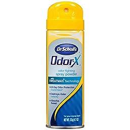Dr. Scholl\'s Odorx Odor Fighting Spray Powder, 4.7 Ounce