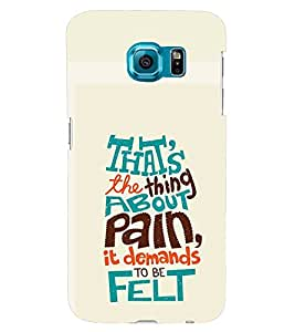 TOUCHNER (TN) About Pain Back Case Cover for Samsung Galaxy S6::Samsung Galaxy S6 G920