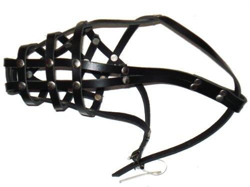 Bild: Maulkorb aus echtem Leder Schäferhund Größe 2 schwarz