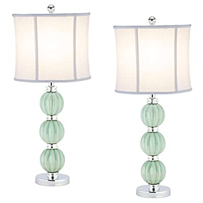 Safavieh Lighting Collection Stephanie Green Globe 25-inch Table Lamp (Set of 2)