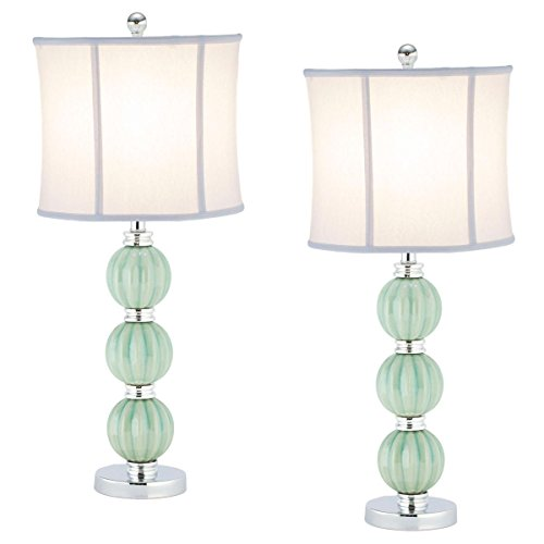 safavieh lighting collection stephanie green globe 25 inch table lamp set of 2 furniture. Black Bedroom Furniture Sets. Home Design Ideas