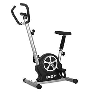 Klarfit Mobifit 5 Home - Vélo d'appartement ergomètre avec ordinateur de bord compact (<100kg, certifié TÜV/GS) - noir
