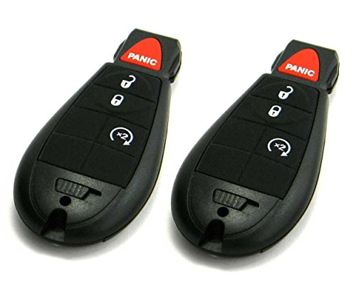 Pair of OEM Electronic Dodge Keyless Entry Remote Fobs FOBIK (FCC ID: IYZ-C01C) (2011 Dodge Ram 1500 Key Fob compare prices)
