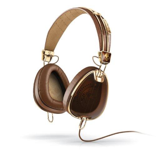 Skullcandy Aviator Headphones (Brown/Gold)