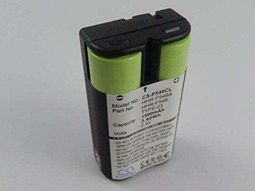 vhbw NiMH Batteria 1500mAh (2.4V) per Telefono Fisso Cordless Motorola MD-61, MD-671, MD-681 sostituisce HHR-P546, TYPE 23.