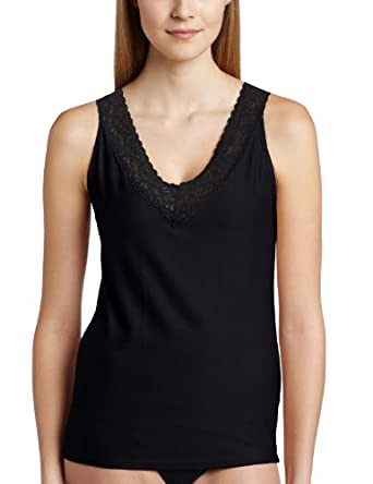 (大牌)ExOfficio女式Give-N-Go Lacy Tank速干抗菌蕾丝边背心 黑色 $18.57