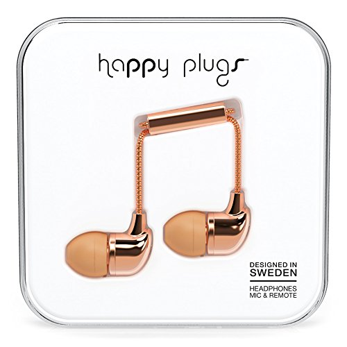 Happy Plugs 7738 In-Ear Headphones, Rose Gold (Happy Plugs Deluxe compare prices)