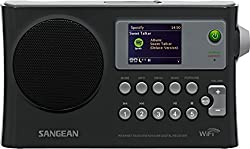 Sangean WFR-28 Rechargeable Portable WiFi Internet Radio-Black