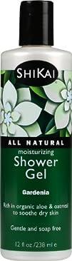 ShiKai All Natural Moisturizing Shower Gel Gardenia 12-Ounces