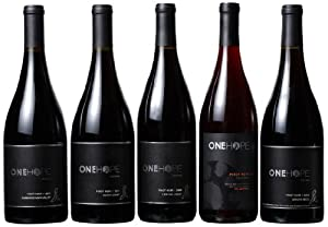 ONEHOPE Pinot Noir Wood Box Mixed Pack, 5 x 750 mL