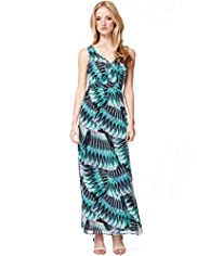 Autograph Geographic Tropical Print Maxi Dress