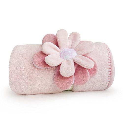 Kidsline Fanciful Floral Boa Blanket, Plush Huggie
