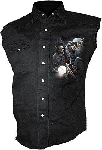 Spiral -  Camicia Casual  - Uomo nero Medium