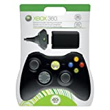 Xbox 360 Play & Charge Kit with Black Controller ~ Microsoft Software