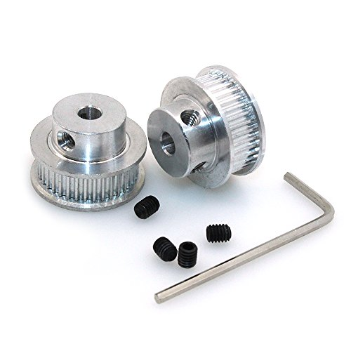 BIQU GT2 Synchronous Wheel 36 Teeth 5mm Bore Aluminum Timing Pulley for 3D Printer 6mm Width Belt (Pack of 2pcs)