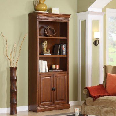 Whalen Augusta Bookcase with Doors - AG3379WBKD