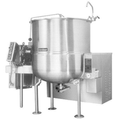 Liquid Propane Cleveland HA-MKGL-100-T 100 Gallon Tilting Steam Jacketed Gas Horizontal Mixer Kettle