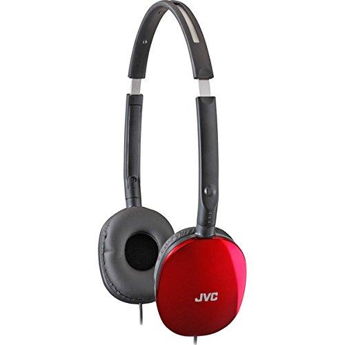 Brand New Jvc Red Flats Lightweight Folding Headphones