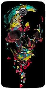 The Racoon Grip Broken Skull hard plastic printed back case / cover for LG G Pro Lite