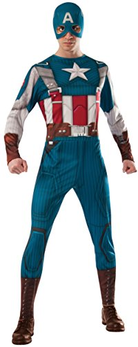 [Rubie's Marvel Universe Captain America Costume, Multicolor, One Size Costume] (Captain America First Avenger Halloween Costume)