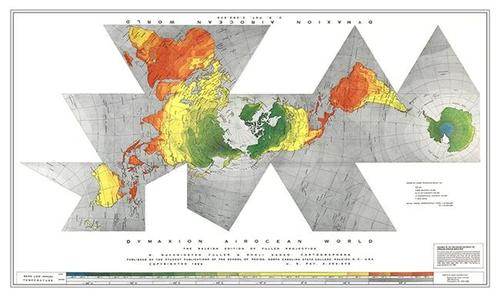 Earth - Fuller Projection Poster