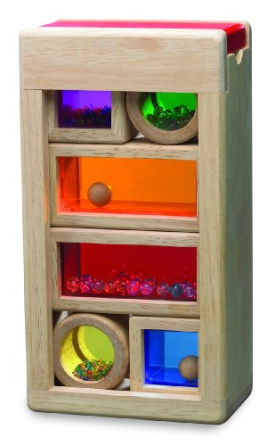 Wonderworld Rainbow Sound Blocks - Stackable Hollow Shape Block Toys