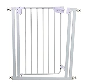 Dream On Me Self Closing Safety Gate, White, Small