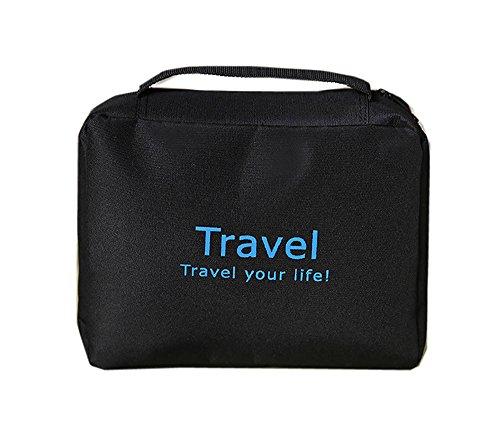 Portatrucchi da viaggio, beauty bag da viaggio - Impermeabile - Colore nero - Capacità 300 ml - con la maniglia per il trasporto