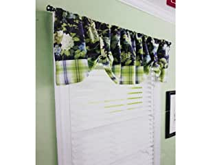 Better homes and gardens plaid bloom window Better homes and gardens valances for small windows