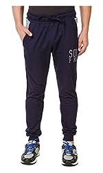 Spunk Men Cotton Blend Track Pant (1000537434003_Blue_L)