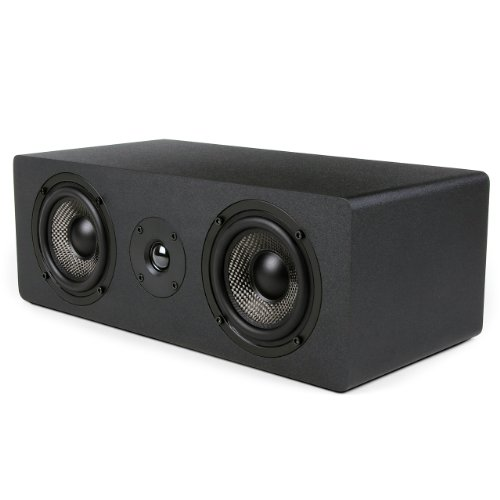 Lowest Prices! Micca MB42X-C Center Channel Speaker with Dual 4-Inch Carbon Fiber Woofer and Silk Do...