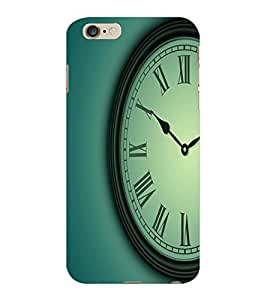 ColourCraft Clock Design Back Case Cover for APPLE IPHONE 6 PLUS