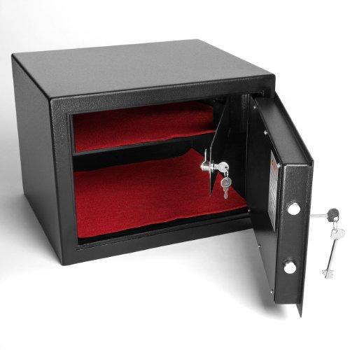 Homelux FS56B Möbeltresor der Sicherheitsstufe B mit extra Innentresor und Außenmaß (H x B x T): 33 x 45 x 38 cm