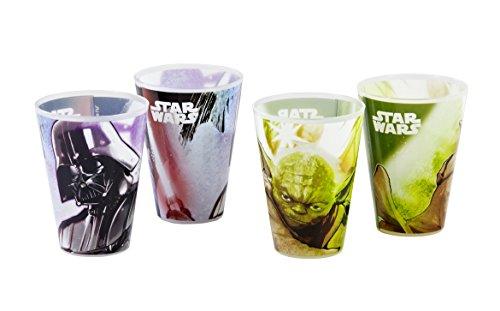 Star Wars 13454, Set di 4 bicchieri multiuso