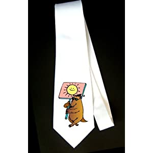 Party Decoration Necktie with walking, protest, sunglasses, sign, rat