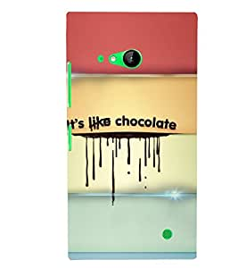 PRINTSWAG CHOCOLATE TEXT Designer Back Cover Case for NOKIA LUMIA 730