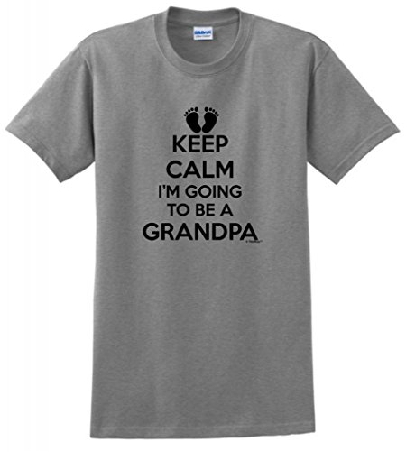 Keep Calm I'M Going To Be A Grandpa T-Shirt 3Xl Sport Grey front-895346