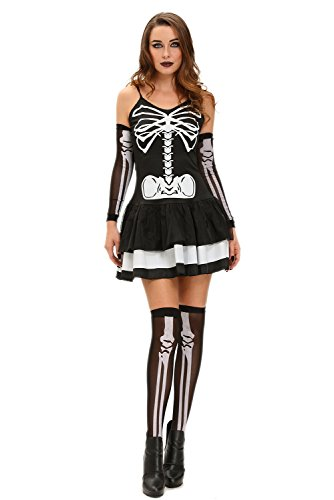 [FiveFour Sexy Skeleton Halloween Masquerade Costume] (Borderlands 2 Costumes For Sale)