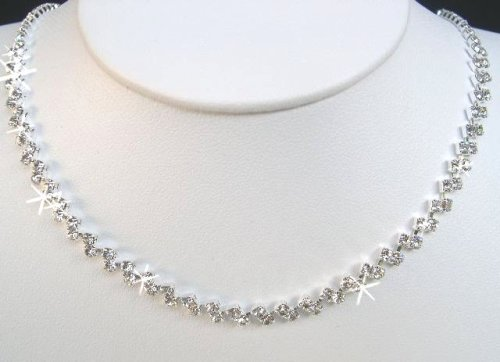 Crystal Necklace Set for Bridal Wedding Prom Pageant N1X56