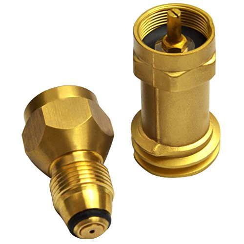 Onlyfire Universal Safest 1 LB Propane Tank Cylinder Adapter Kit with Disposable Bottle Adapter and Propane Refill Cylinder Adapter-100% Solid Brass Regulator Valve Accessory (Universal Propane Heater compare prices)
