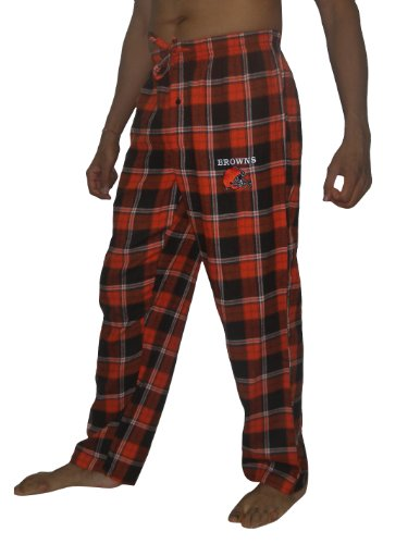NFL CLEVELAND BROWNS Mens Fall / Winter Plaid Sleepwear / Pajama Pants 2XL Multicolor at Amazon.com