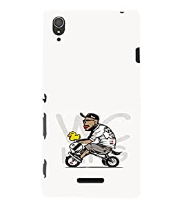 EPICCASE Guy riding cycle Mobile Back Case Cover For Sony Xperia T3 (Designer Case)