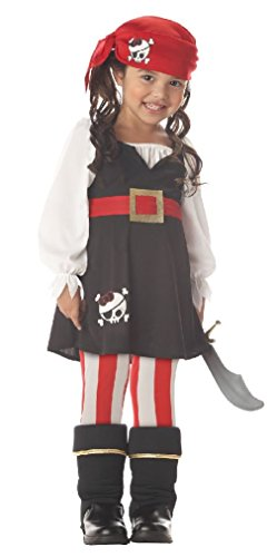 [Fancy Precious Little Pirate Toddler Girl Halloween Costume] (Pirate Theme Party Costumes)