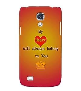 Fuson 3D Printed Love Designer back case cover for Samsung Galaxy S4 - D4527