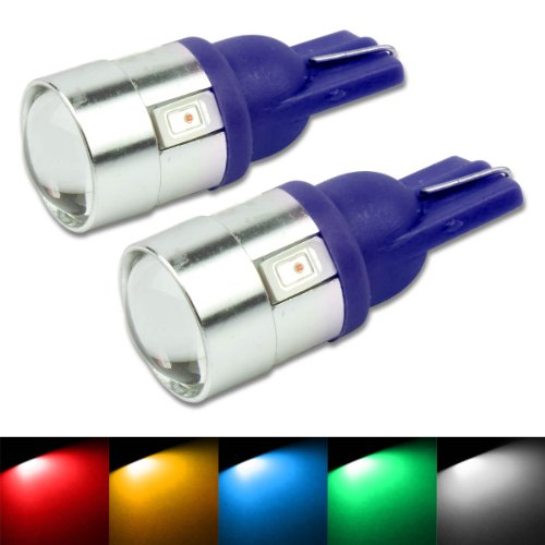 T10 194/168 6-Smd Cree Blue Led Light Bulbs (Pack Of 2)