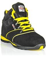 Chaussures de sécurité hautes unisexes Cuir velour, embout acier, Conformes CE - A2 Hiker EU / UK