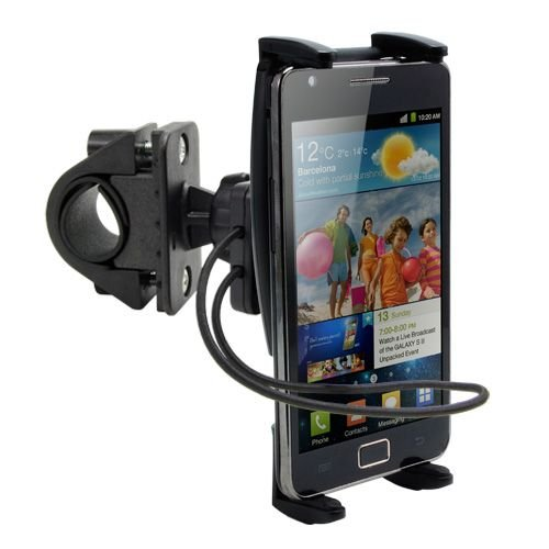 High Grade Ultra-Grip Bike / Motorcycle Mount For Blackberry R10 / Q5 / Q10 / Z10 / Z30 And Passport Mobile Phones W/ Swivel Cradle And Safety Strap front-50507